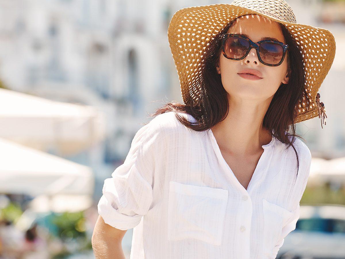 Beat summer heat - sun hat and sunglasses