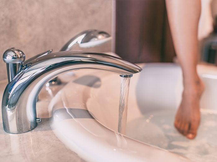 Beat summer heat - take a warm bath