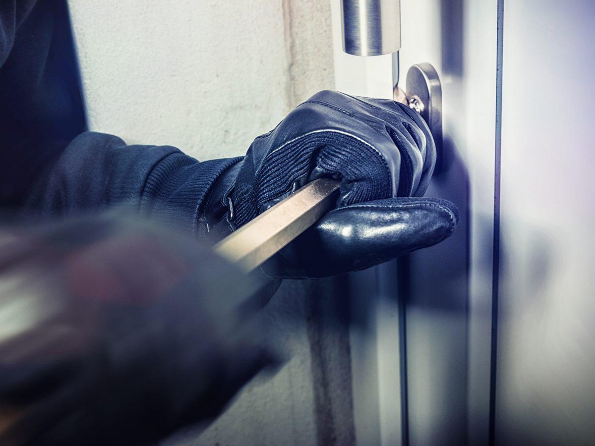 Caring for aging parents - burglar