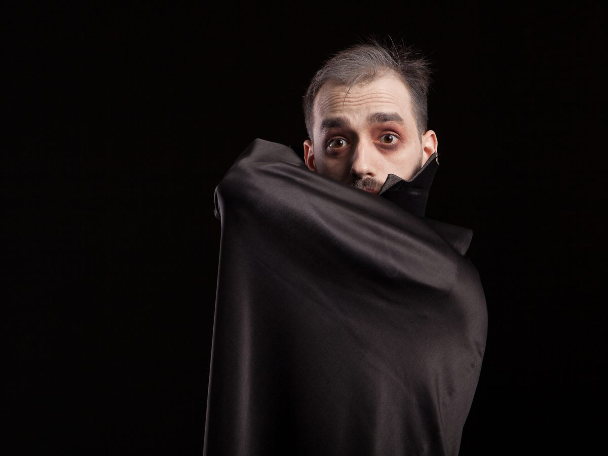 Man dressed up as a vampire