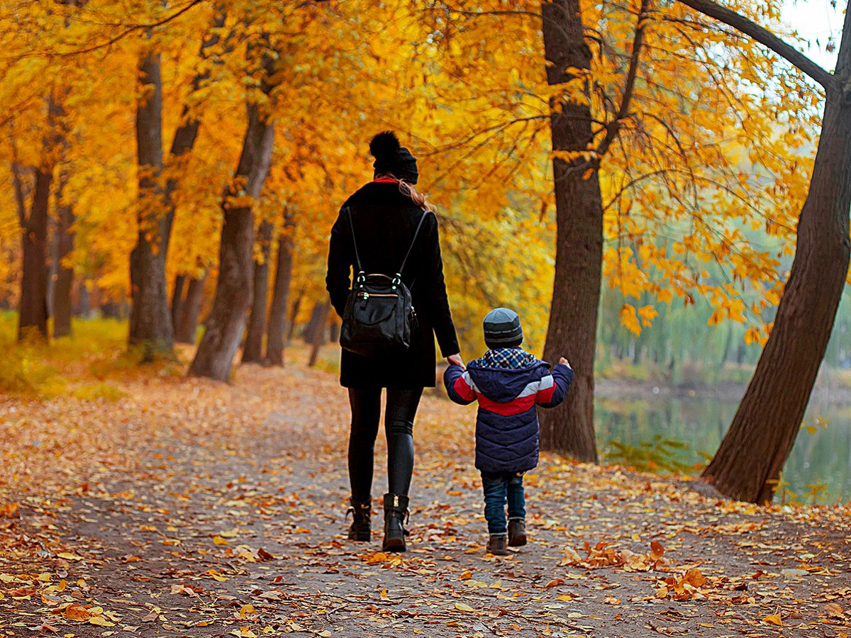 Mother's Day quotes - mother and son fall walk