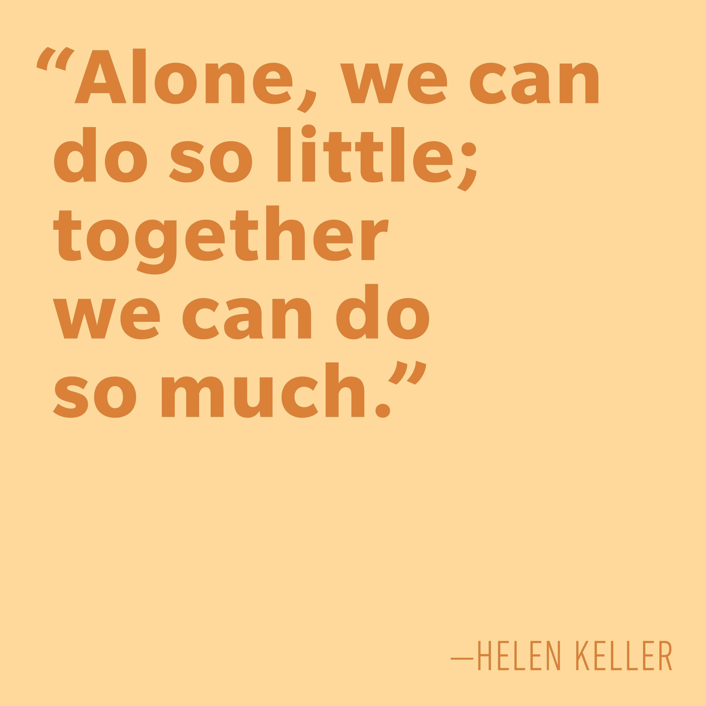 Motivational quotes - Helen Keller