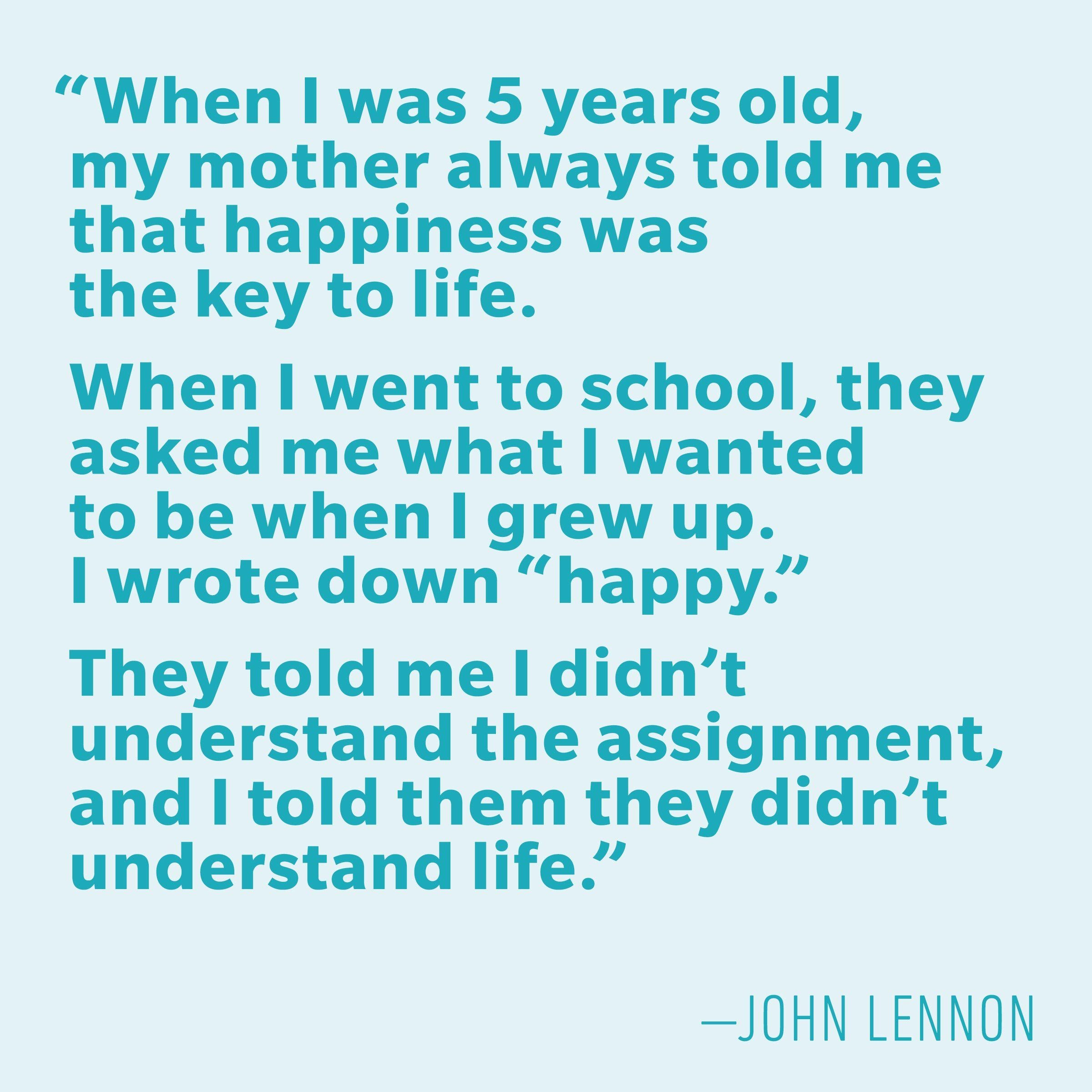 Motivational quotes - John Lennon