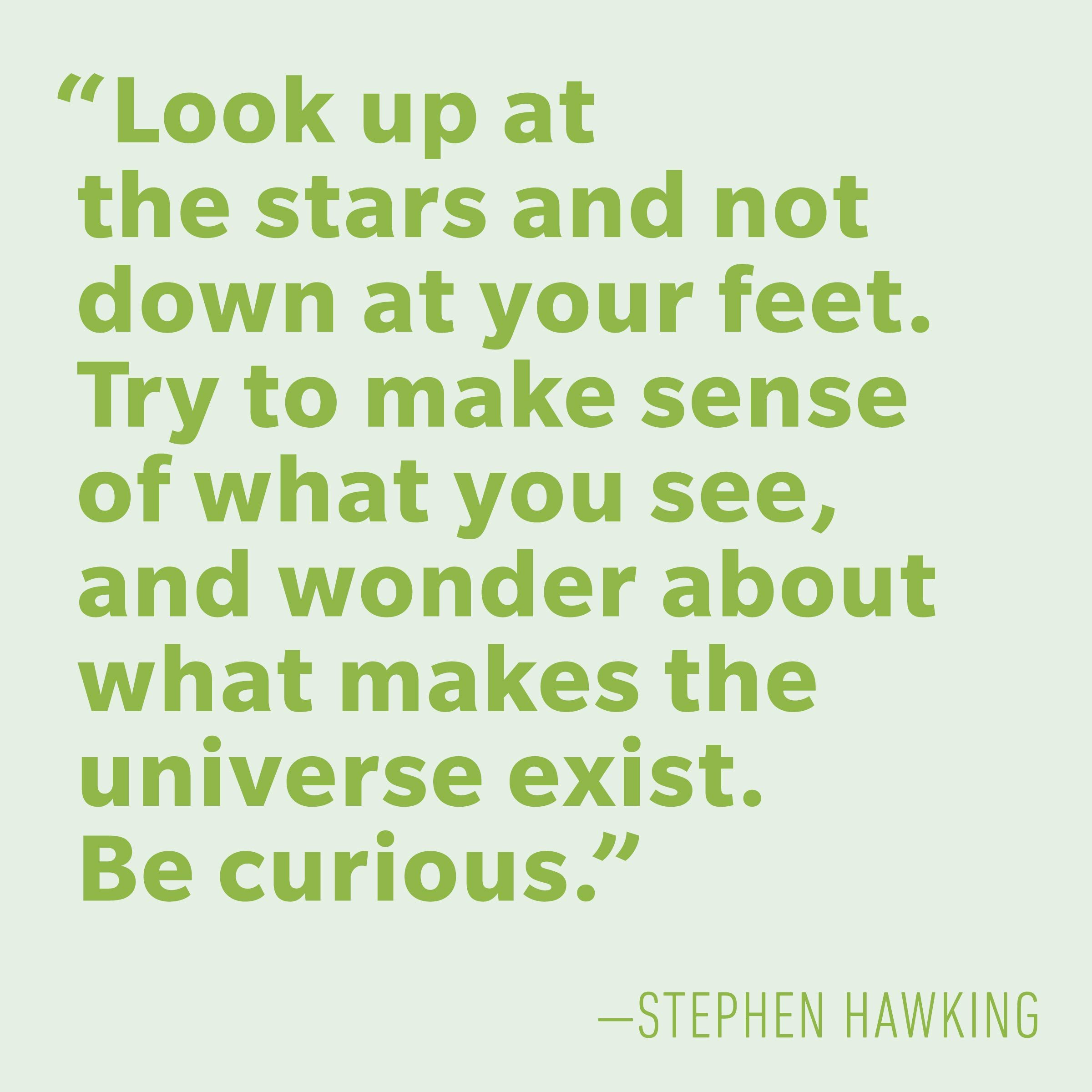 Motivational quotes - Stephen Hawking