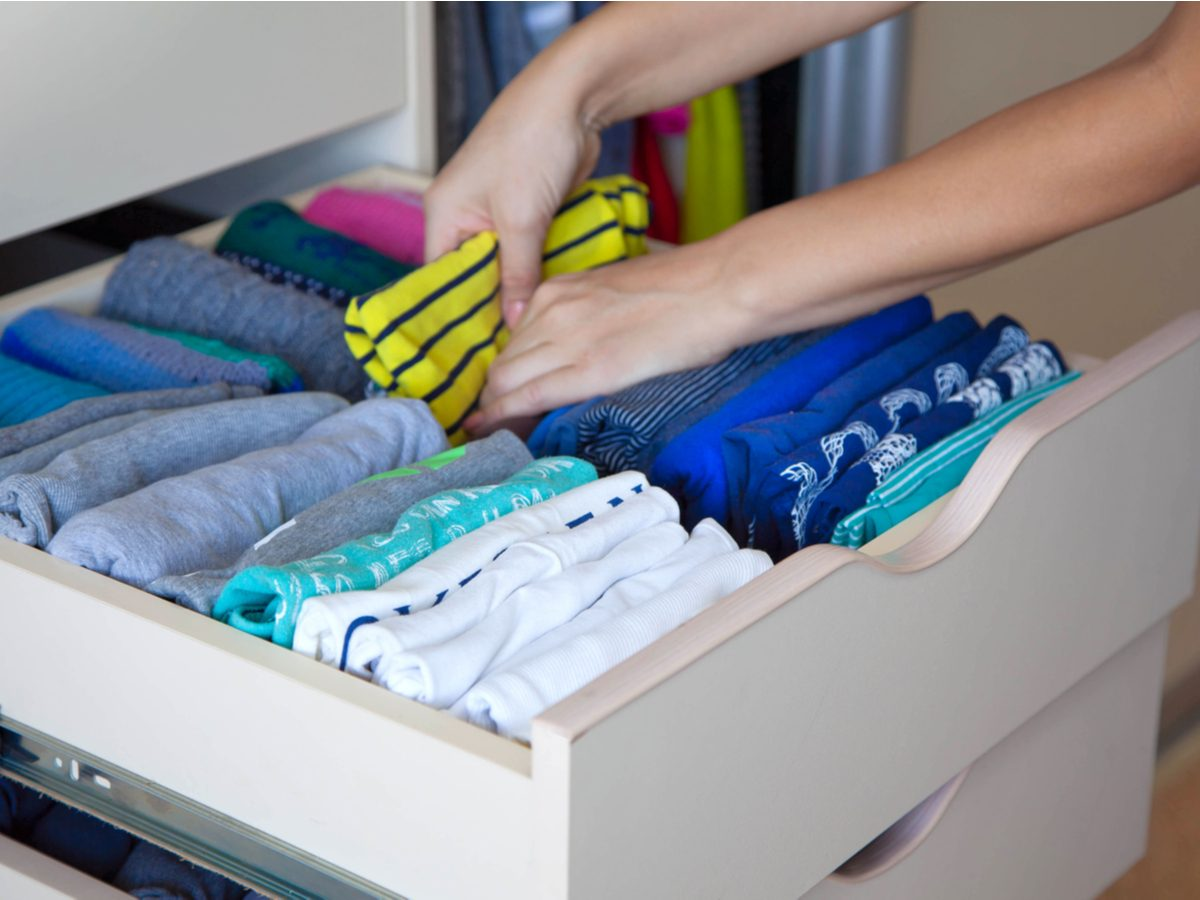 Organizing clothes drawer