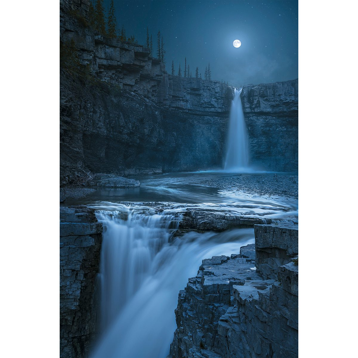 Share Your Canada photo contest - moonlight waterfall