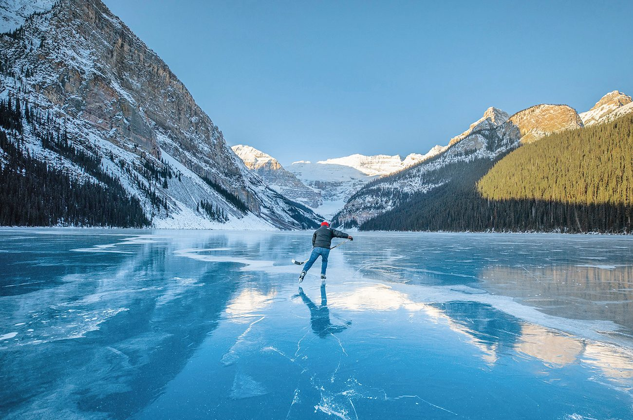 Share Your Canada photo contest winner - Skating on Lake Louise