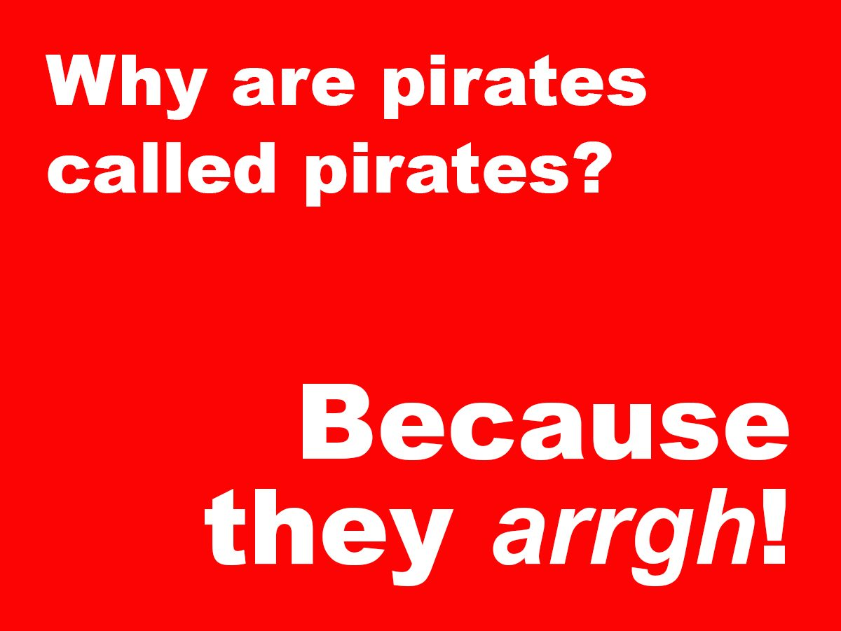 Short Jokes - pirates
