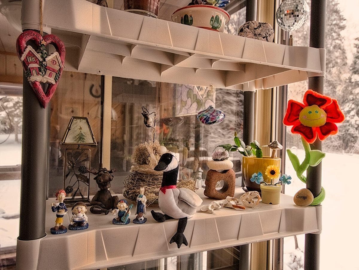Tetley Tea figurines on a shelf
