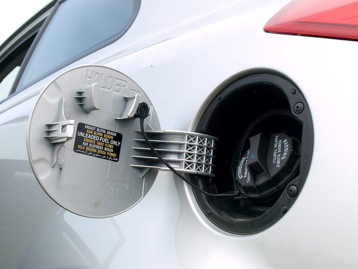 vintage car features - car gas cap