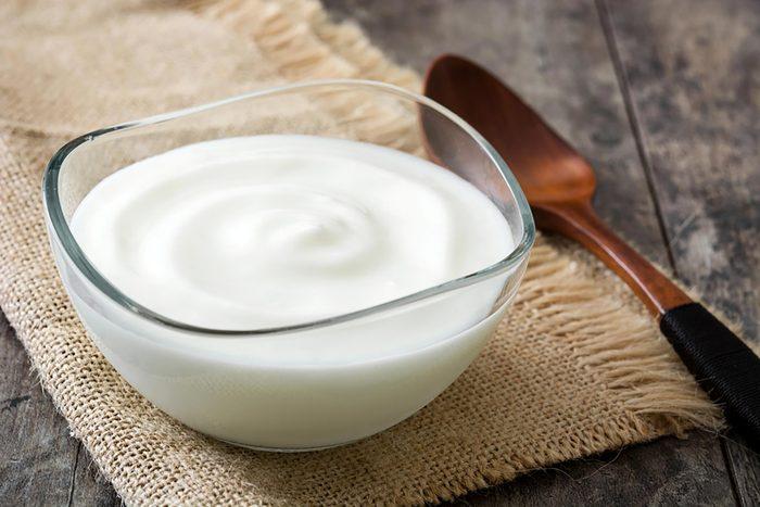 bowl of yogurt