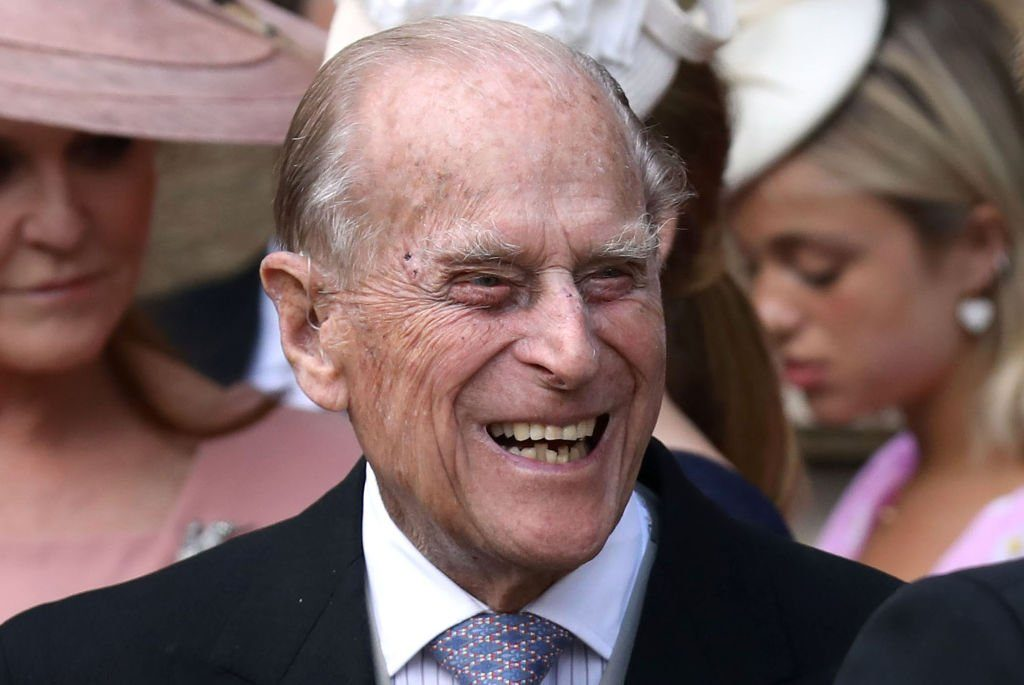 Prince Philip laughing hysterially