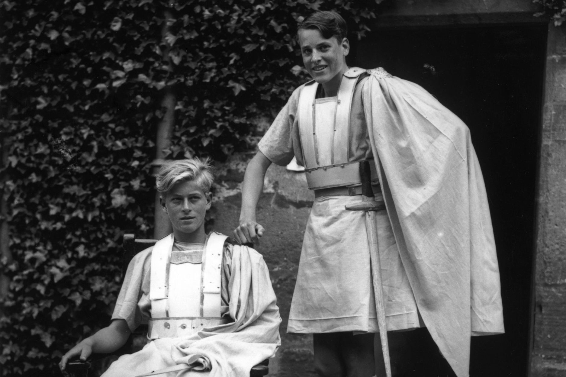 Young Prince Philip in a school play