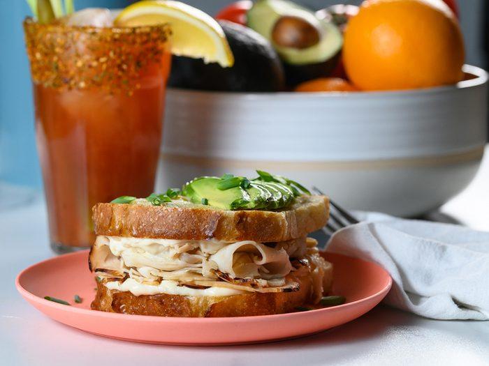 The Yolky Gargantuan Turkey & Egg-in-a-Hole Breakfast Sandwich
