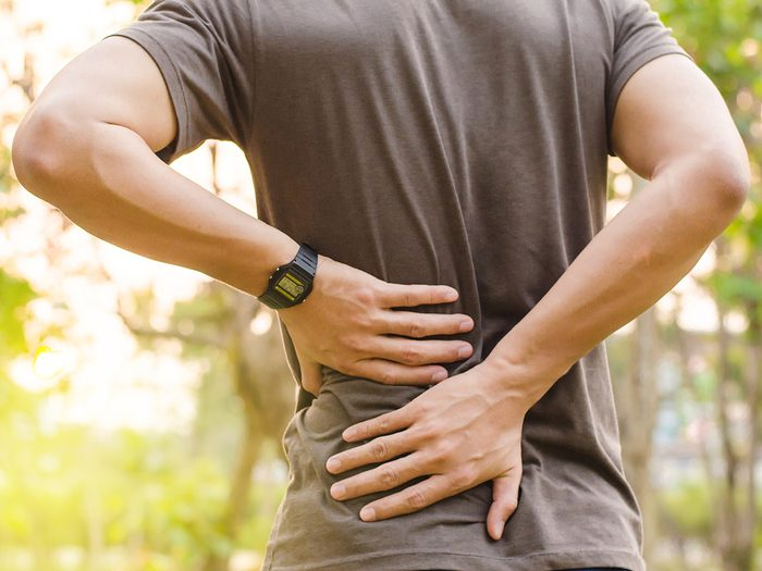 Back pain remedies - man with back pain