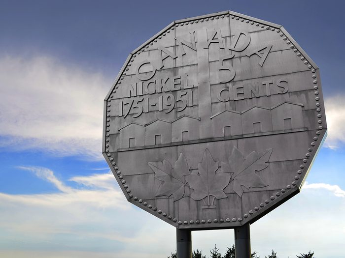 Canada's largest roadside attractions - The Big Nickle in Sudbury Ont. Canada.