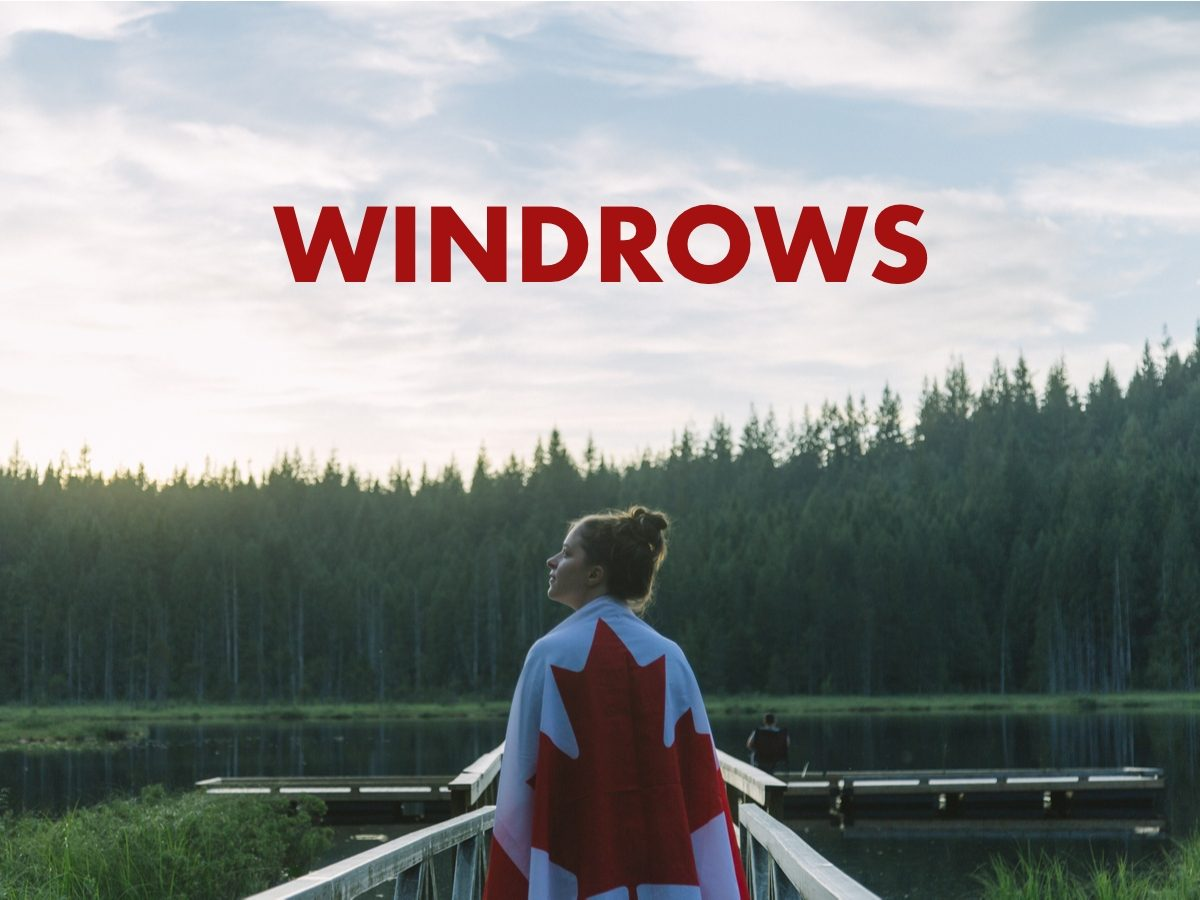 Canadian slang terms - Windrows