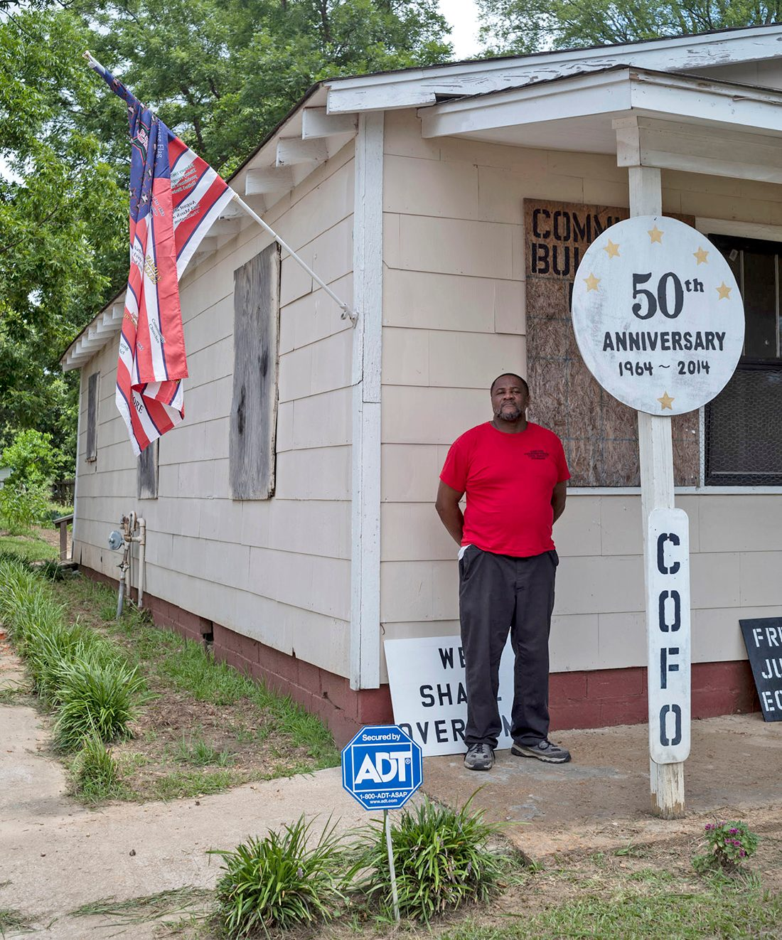 Civil Rights Trail - Glen Cotton at the Shotgun House