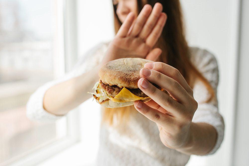 healthy eating tips - burger