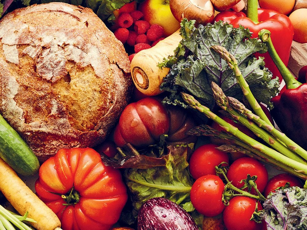 healthy eating tip - veggies, fruits and fish