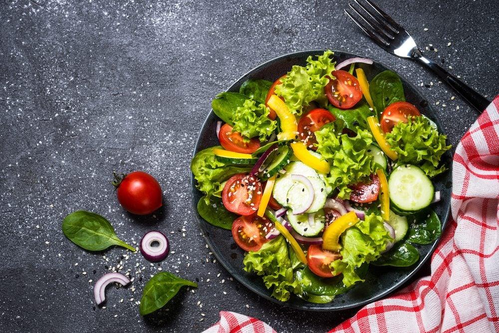 healthy eating tips - salad