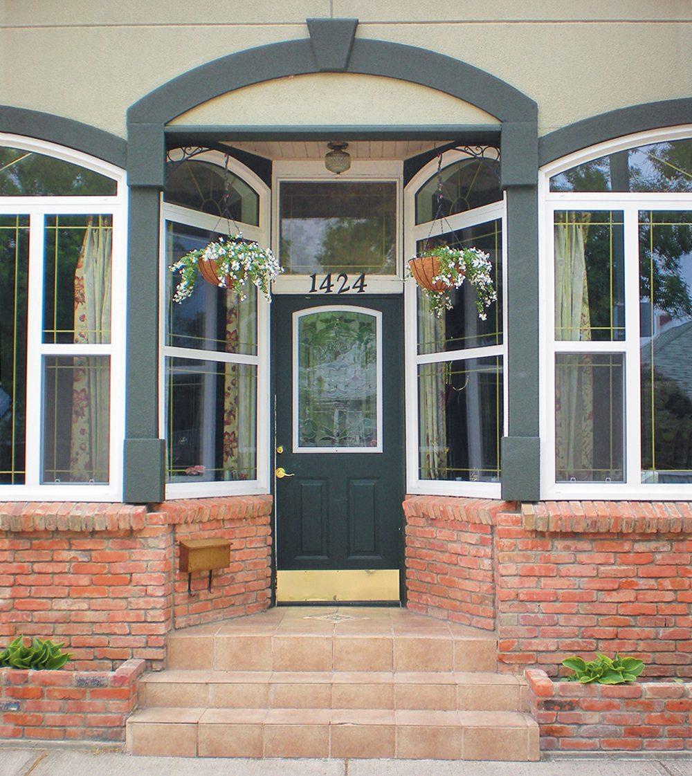 Historic grocery store reno - front door