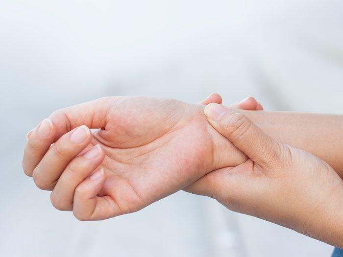 Home remedies for nausea - apply wrist pressure