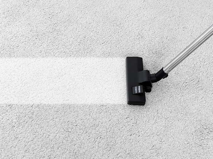 How to clean the dirtiest items in your home - vacuuming dirty carpet