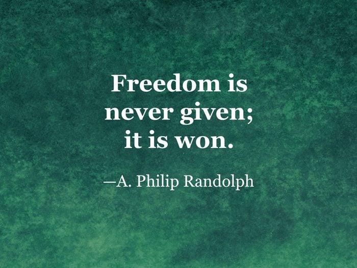 A. Philip Randolph quote