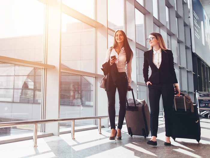 Reasons you're dehydrated - woman at airport