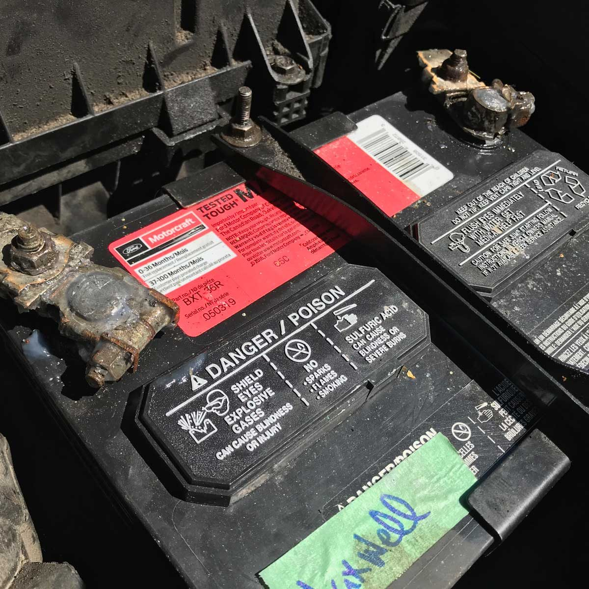 How to test a car battery: find the battery
