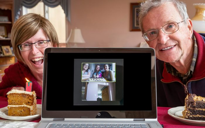 Zoom chat between family members