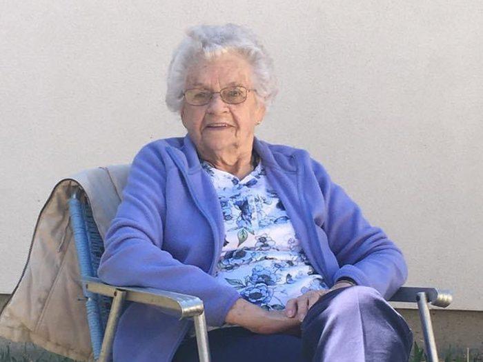 Beautiful, smiling elderly woman