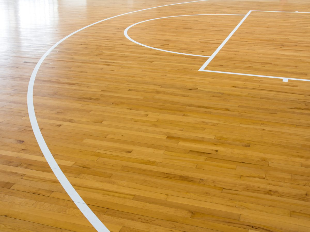 Basketball court wood floor