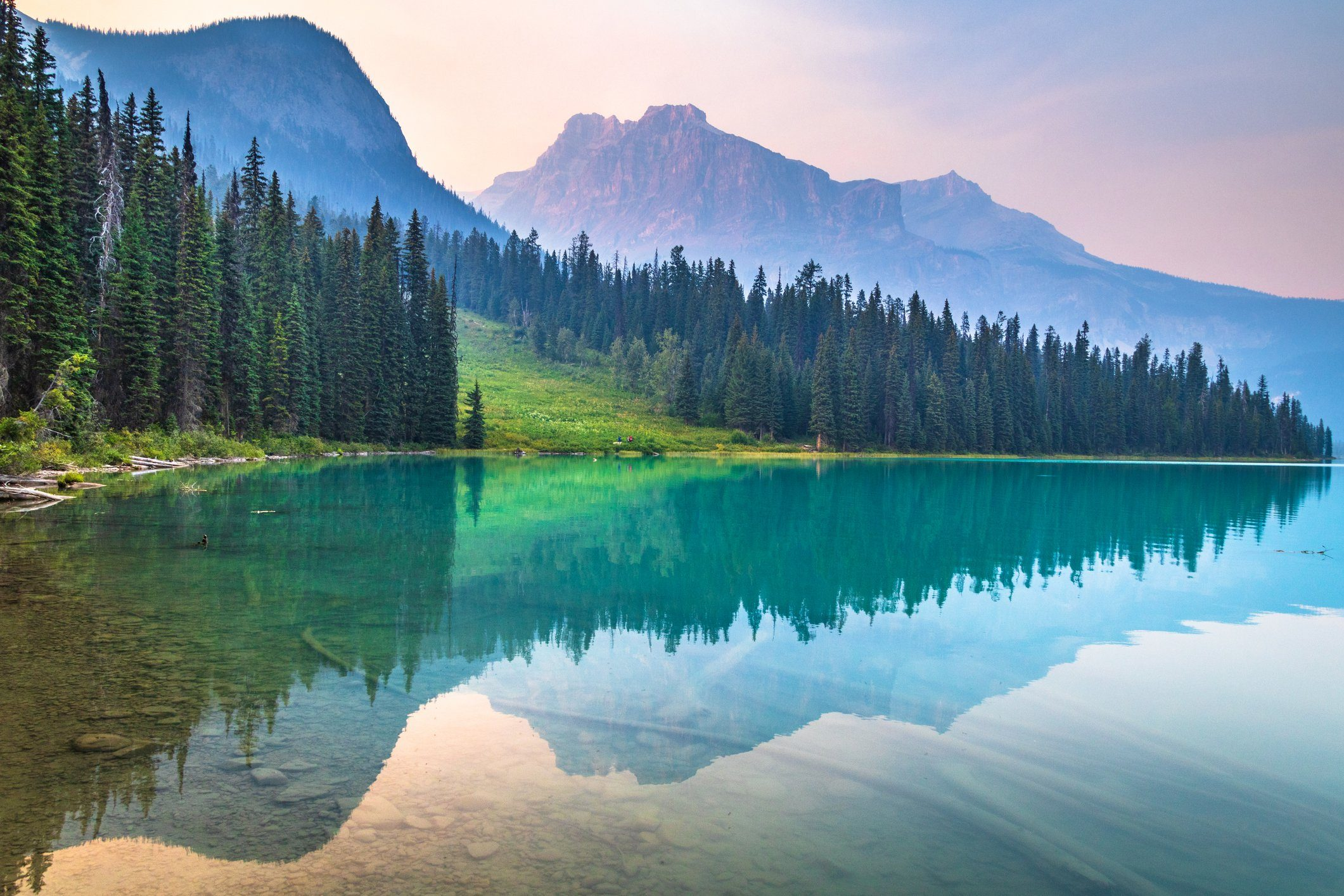 Dusk @ Emerald Lake, Yoho National Park, British Columbia, Canada