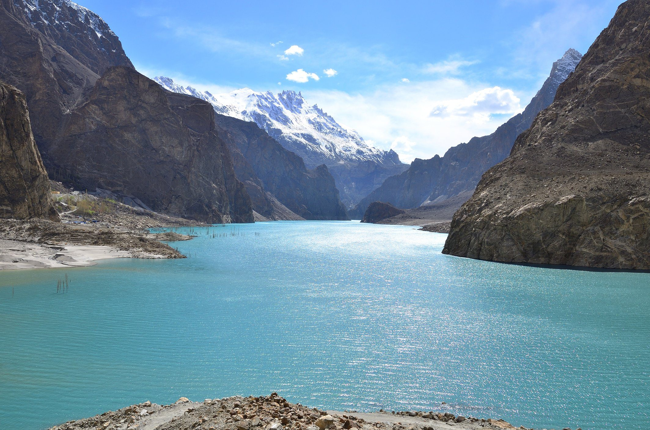 Attabad lake in Gojal valley,northern Pakistan