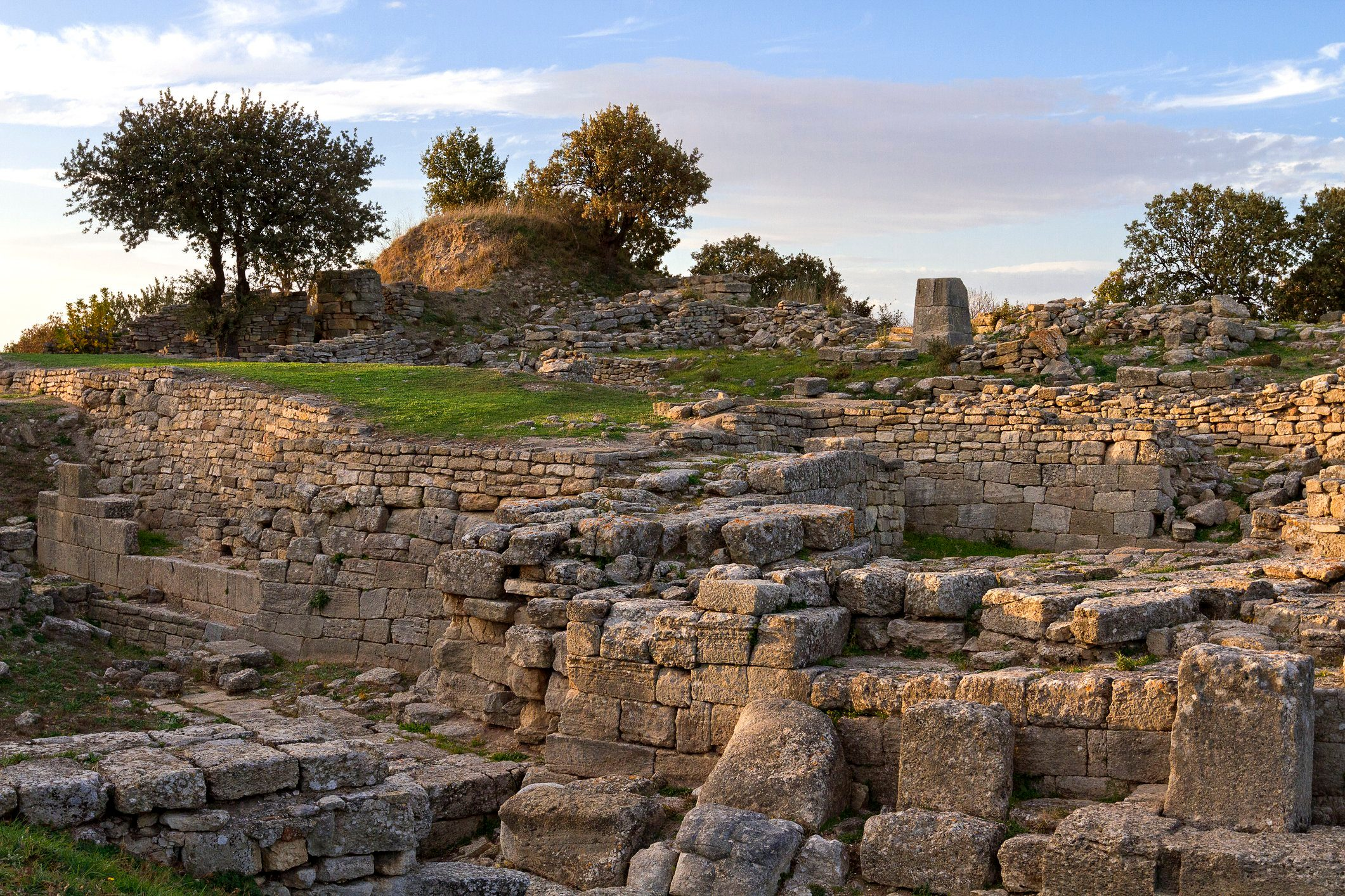 Ruins of the ancient city of Troy, Canakkale, Turkey