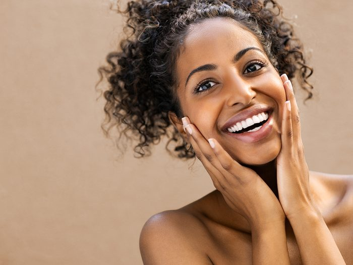 Health benefits of cantaloupe - woman with beautiful skin