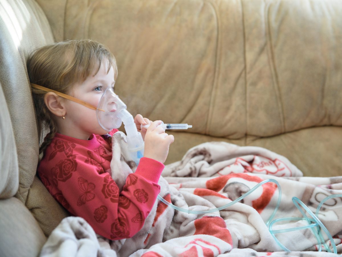 Child with cystic fibrosis