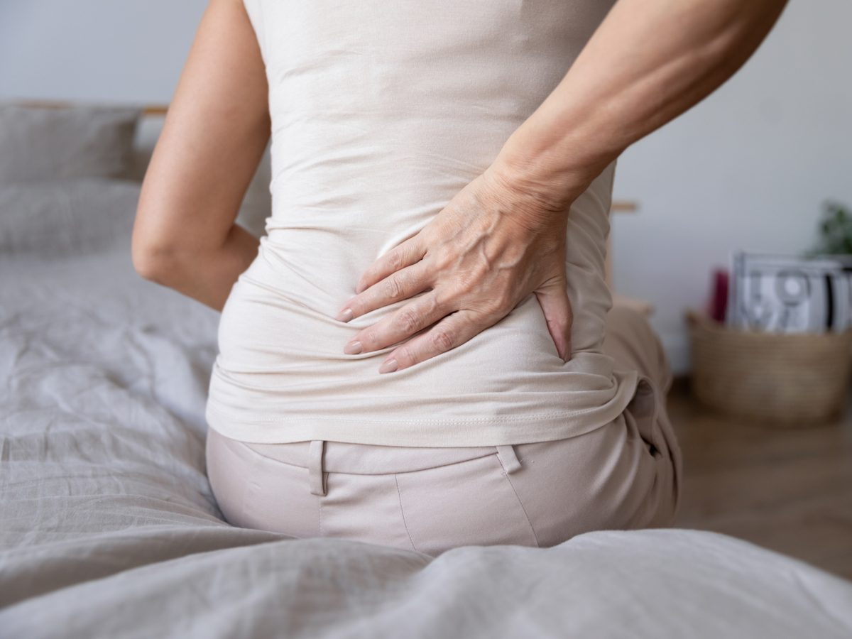 Middle-aged woman with lower back pain