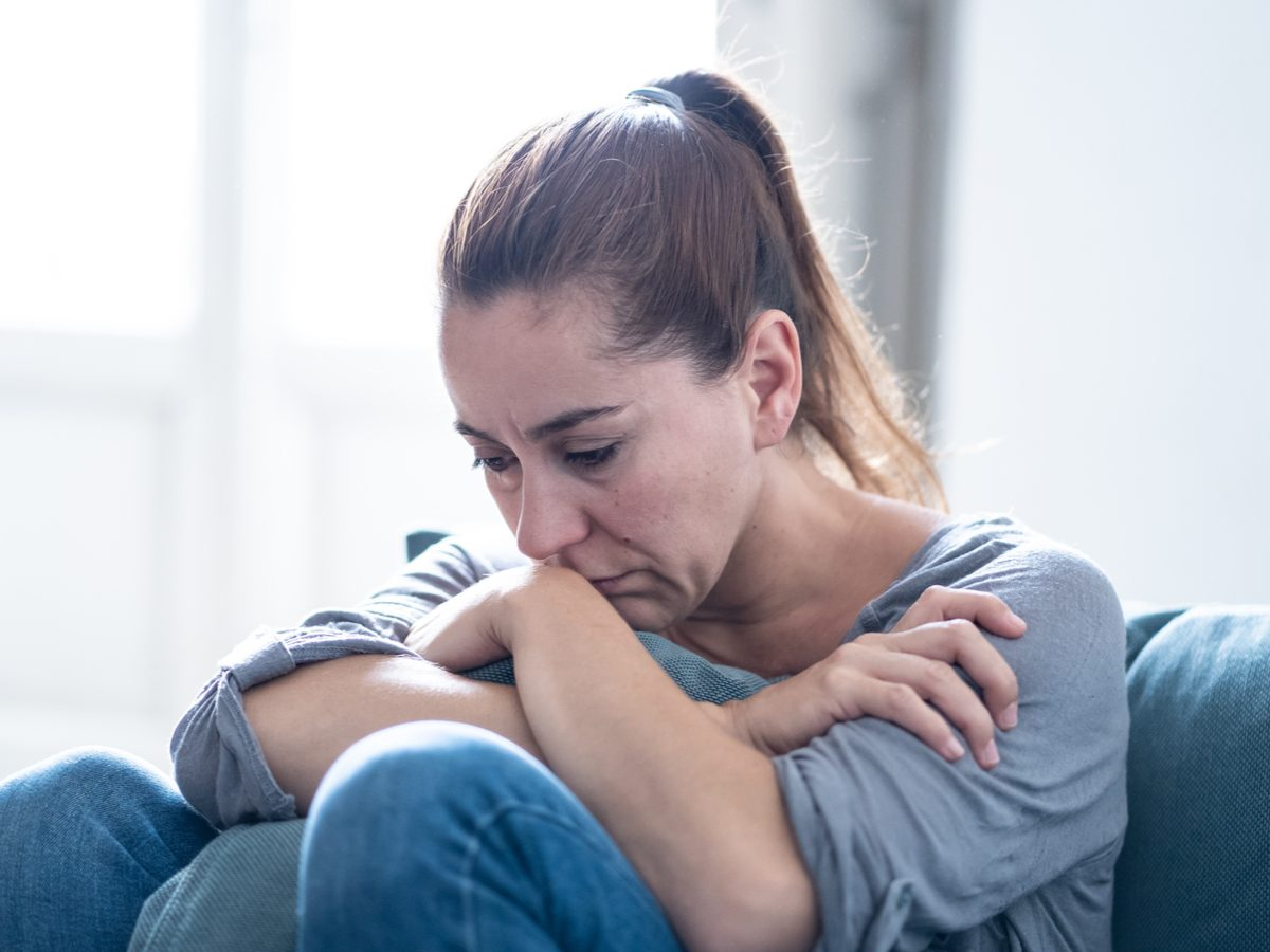 Woman experiencing depression