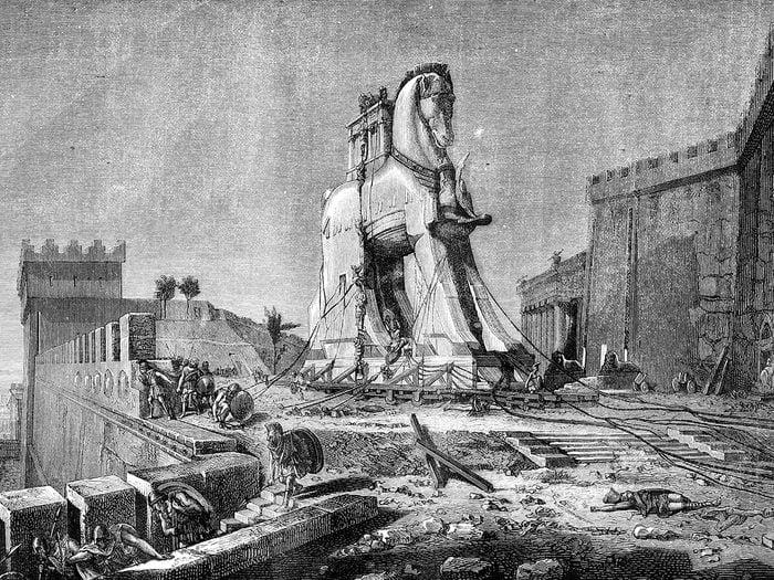 History jokes - Trojan horse at fall of Troy
