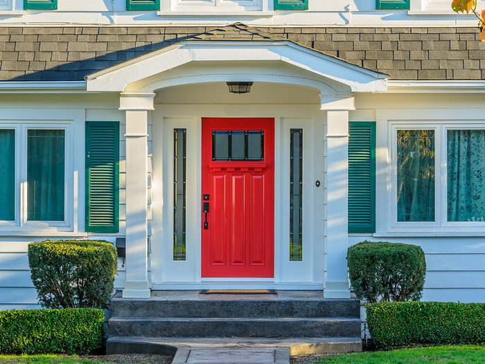 How to boost curb appeal - red front door