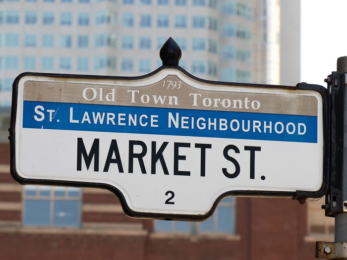 How to make your walk less boring - read street signs Market Street Toronto