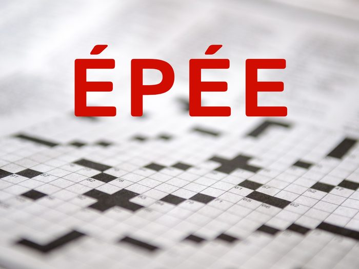 Crossword puzzle answers - Epee