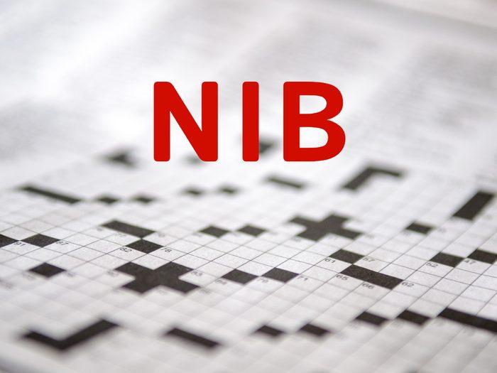 Crossword puzzle answers - Nib