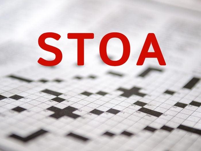 Crossword puzzle answers - Stoa