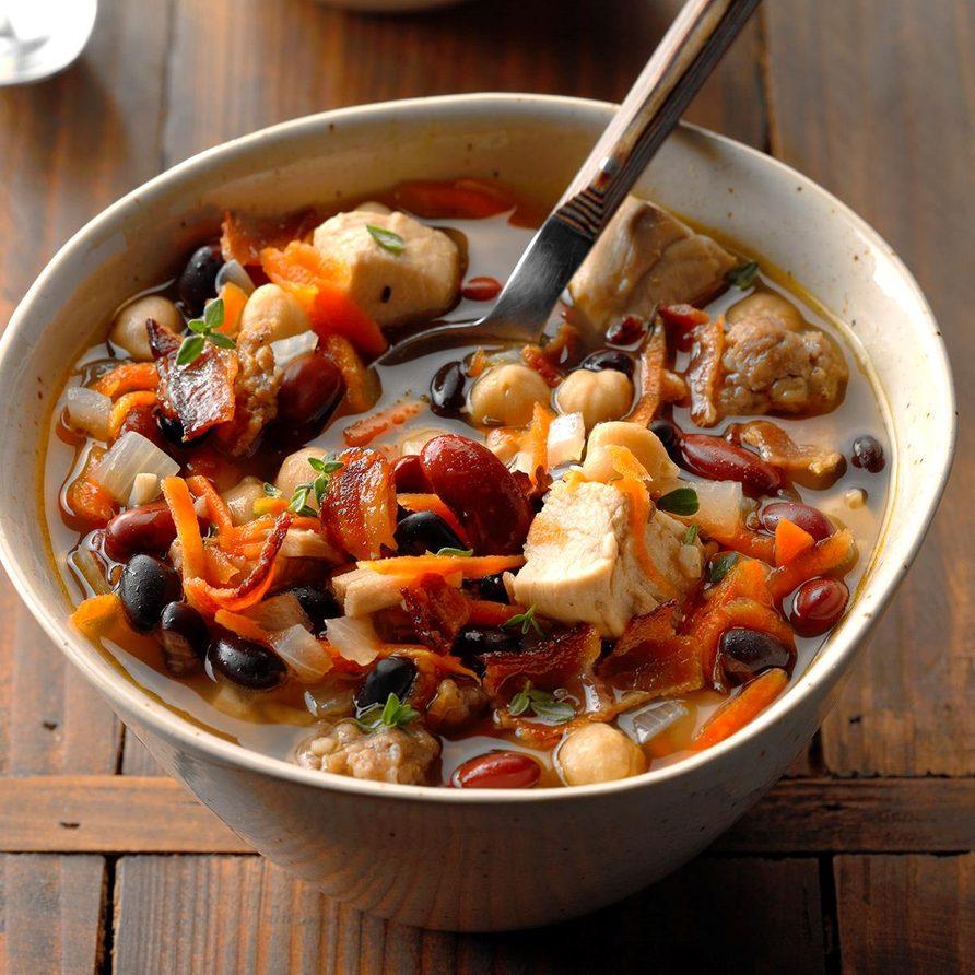 Chicken cassoulet soup recipe