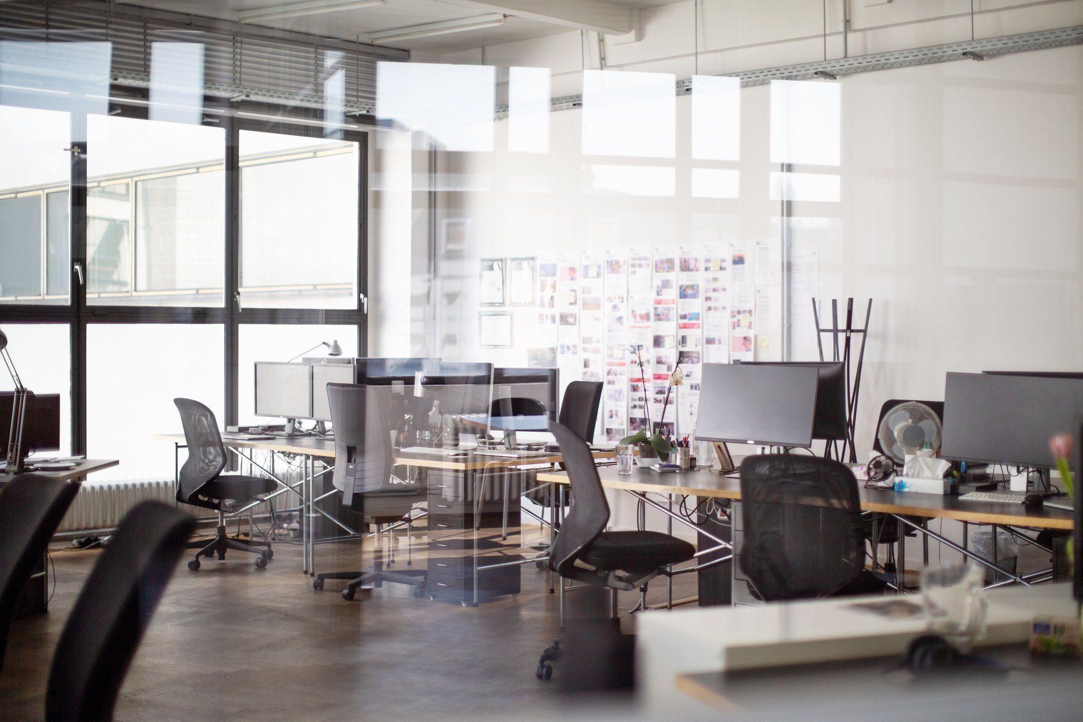 Interior of open office