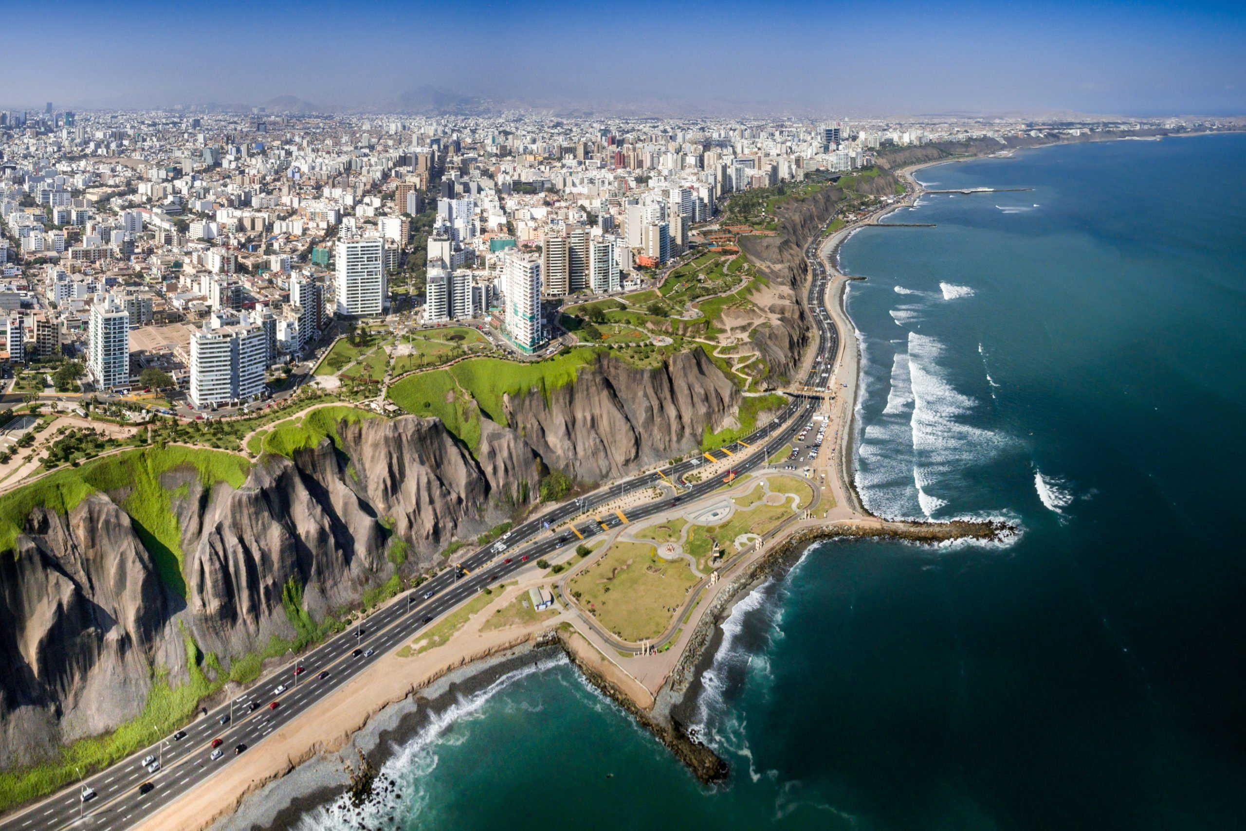 Costa Verde in Lima, Peru